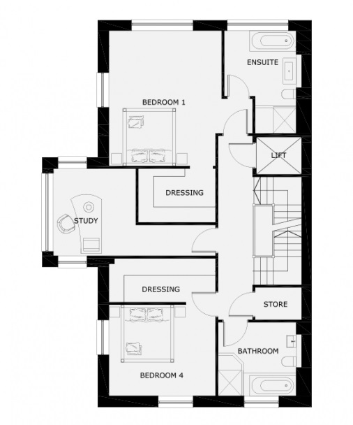 1 Derby Square, Douglas Floorplan