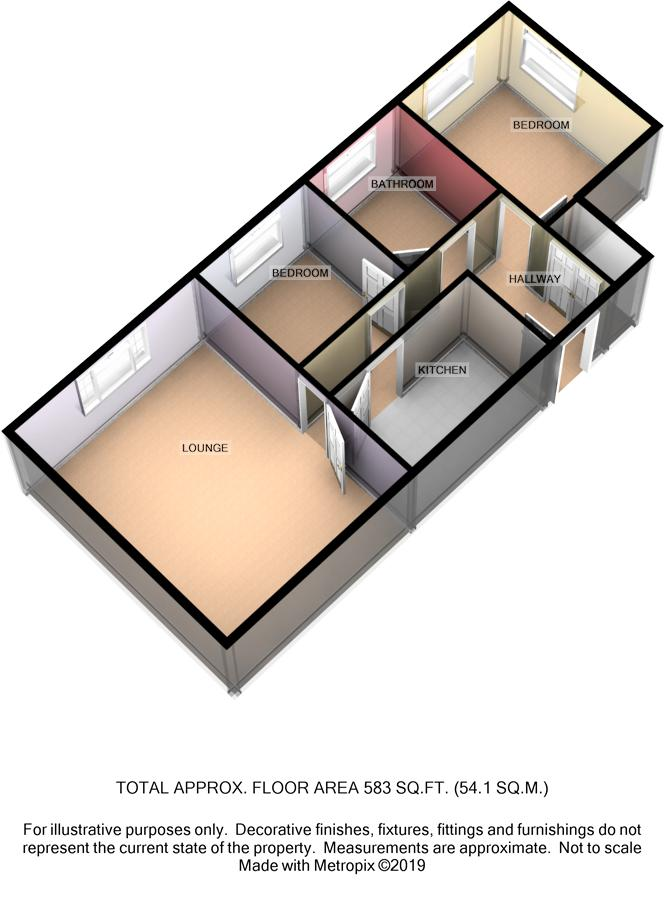 2 Chapel Court, Christian Street, Peel, IM5 1NR Floorplan