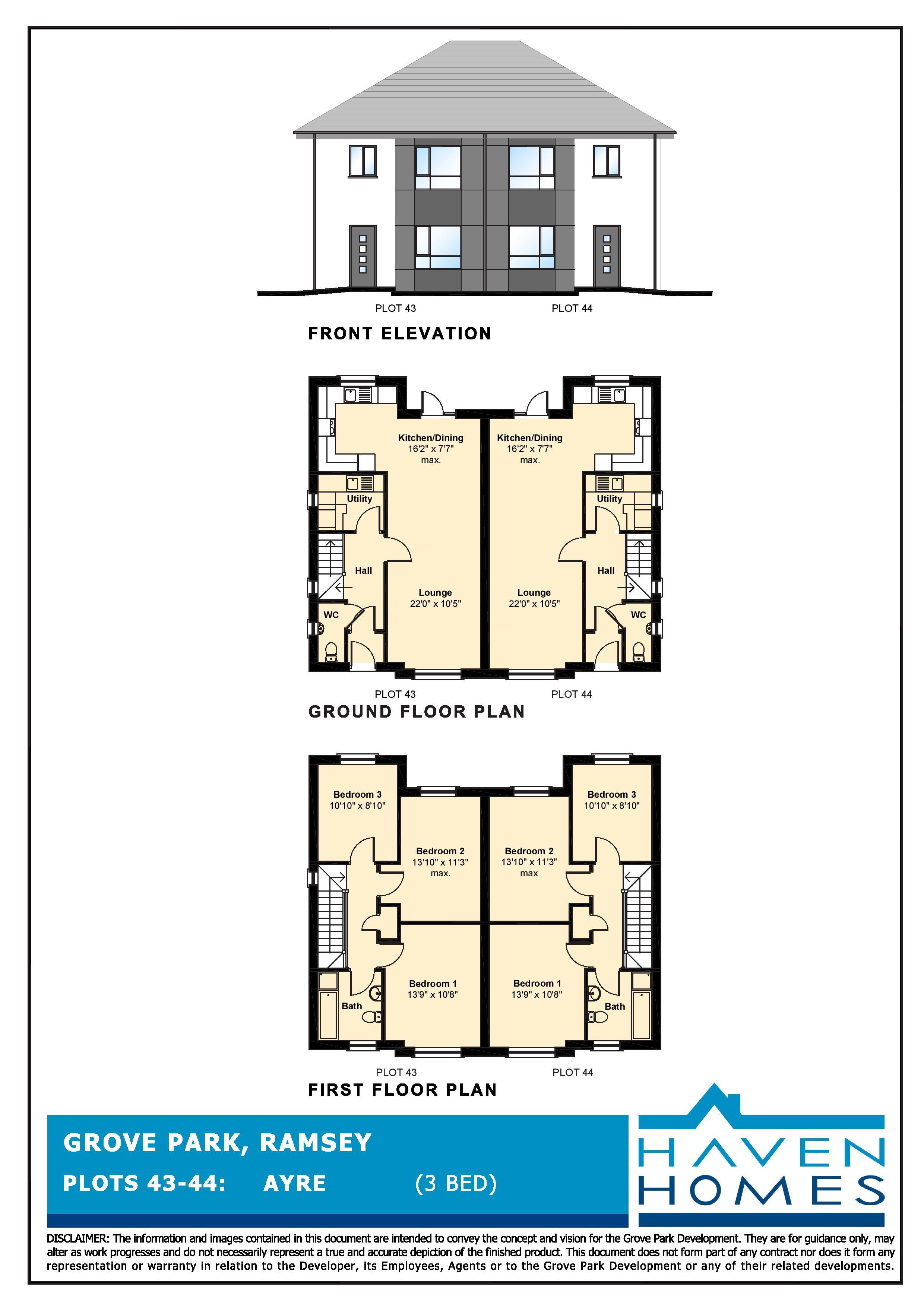 Plot 43, Grove Park, Ramsey Floorplan