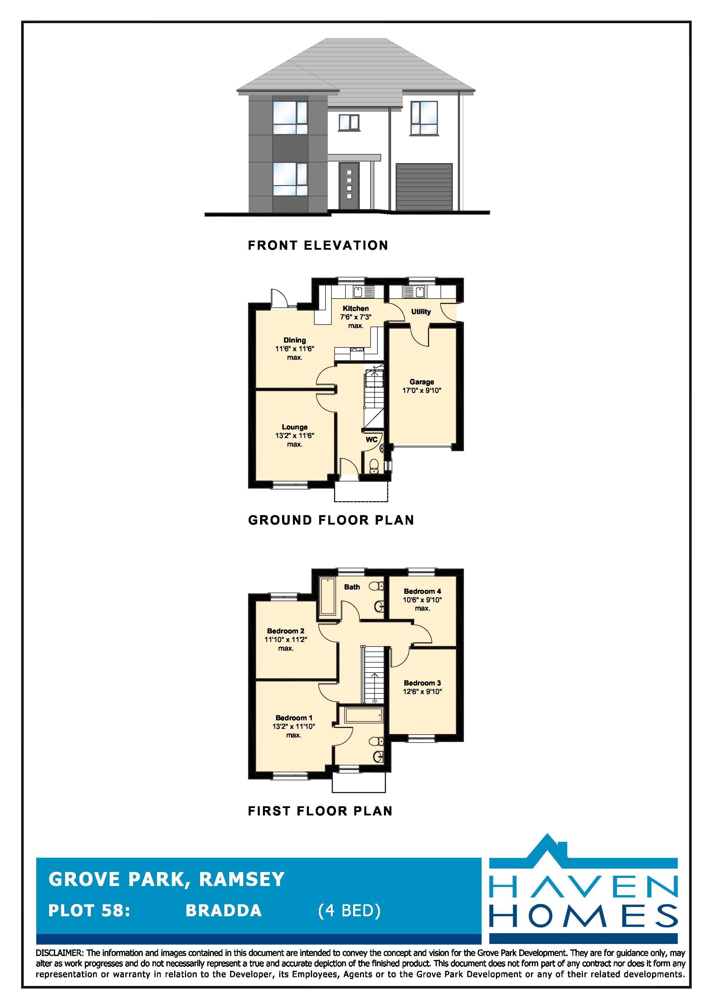Plot 58, Grove Park, Ramsey Floorplan