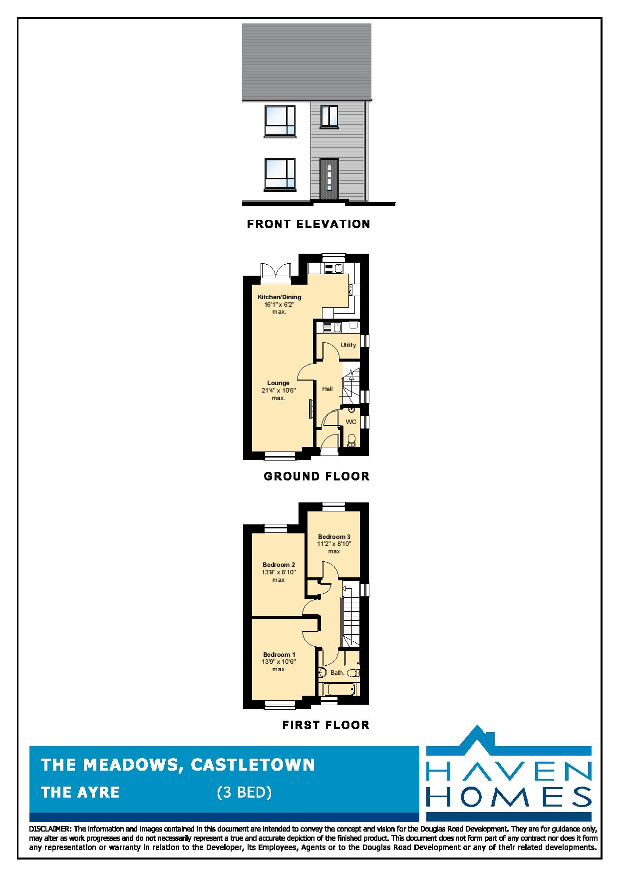 Plot 82, The Meadows, Castletown Floorplan