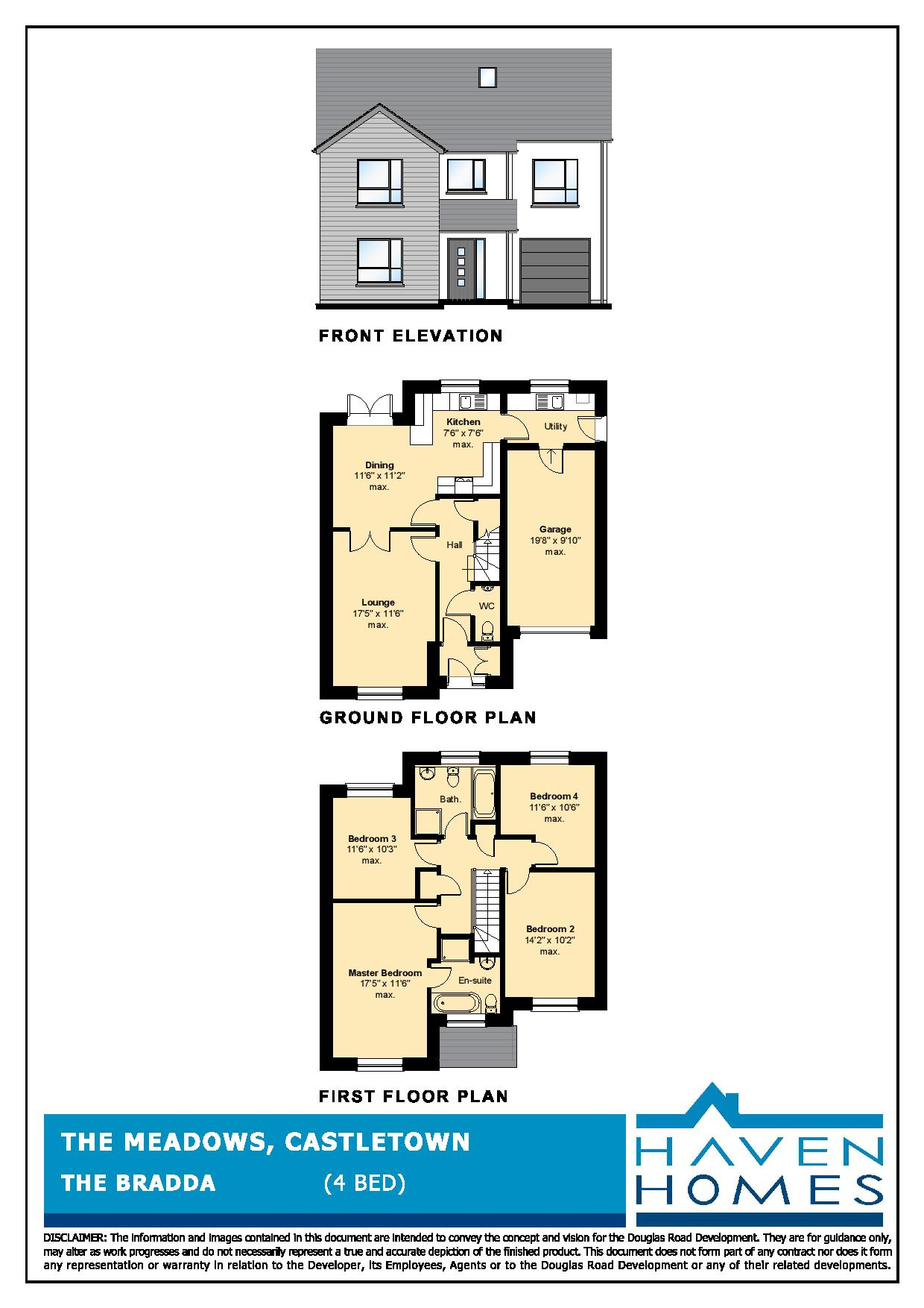 Show Home (Plot 43), The Meadows, Castletown Floorplan