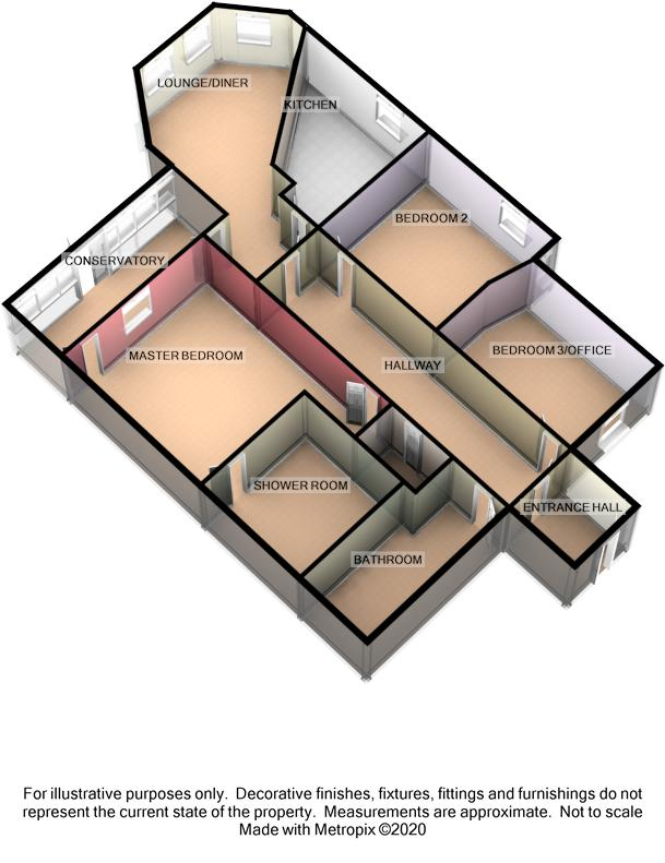Apartment 2, Snaefell House, Upper Prom, Port Erin Floorplan