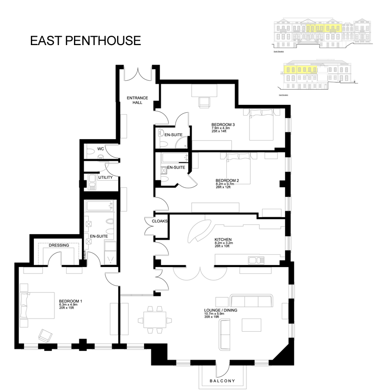 The East Penthouse, Coutts House, Onchan Floorplan