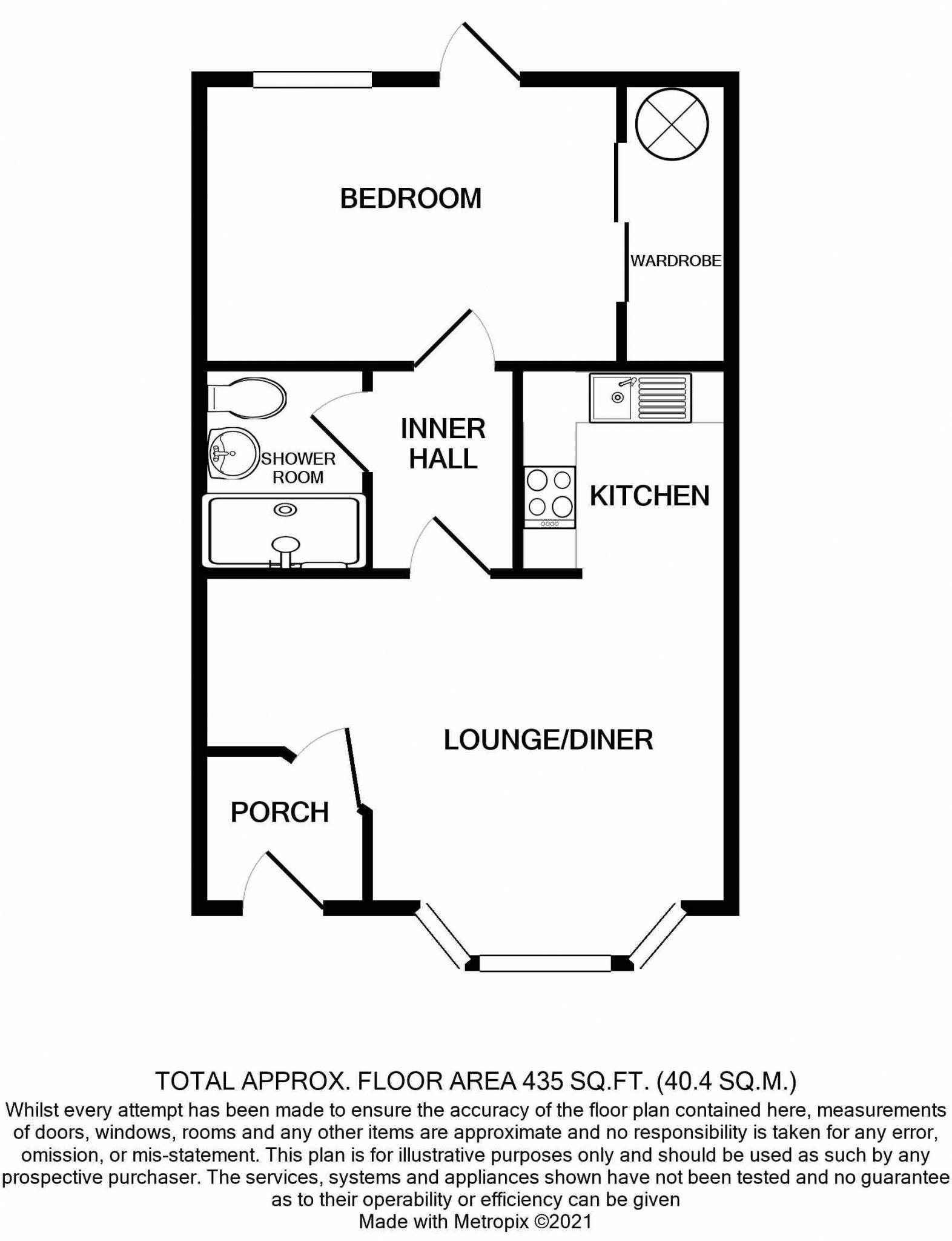 Basement Flat, 8 Mona Street, Douglas Floorplan